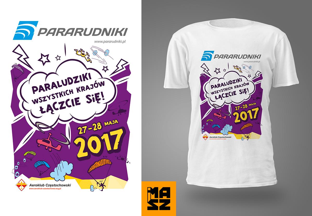 ParaRudnikowe koszulki dla uczestników Drone Racing